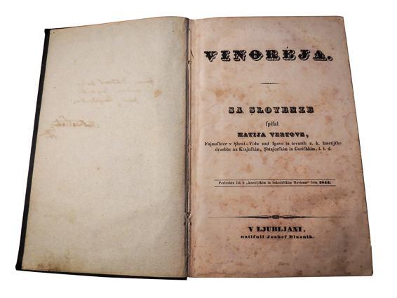 Knjiga Vinoreja